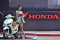 The th bangkok international motor show thailand apr unidentified female presenter at honda pavilion in on april in Stock Images