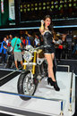 The th bangkok international thailand motor show nonthaburi march honda motorcycle with unidentified model on display at on march Royalty Free Stock Photography