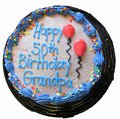 50th Birthday Cake Isolated Royalty Free Stock Photo