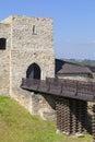 14th century Dobczyce Castle on Lake Dobczyce, near Krakow, Poland Royalty Free Stock Photo