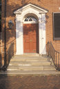 18th Century doorway near Independence Hall in historic district of Philadelphia, PA Royalty Free Stock Photo