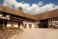 Th century farmhouse in alsace timbered farm house the eco museum ungersheim france Stock Image