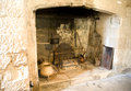 Th century fireplace at henry viii's finest coastal fort portland castle built in the s to protect against french and spanish Royalty Free Stock Photo