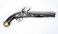 Th century flintlock pistol a very rare example of a kings german legion pattern as used during the georgian period and typical of Stock Images
