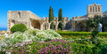 Th century gothic monastery at bellapais northern cyprus on the slopes of the pentadaktylos mountains in the Stock Photography