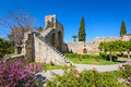 Th century gothic monastery at bellapais northern cyprus on the slopes of the pentadaktylos mountains in the Stock Images