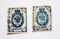 19th century postage stamps Royalty Free Stock Photo