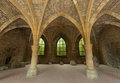 Th century ruins of orval restored arches the famous abbey in the gaume region in belgium Stock Photography