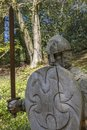 11th Century Soldier Sculpture at Battle Abbey Royalty Free Stock Photo