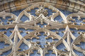 14th century St. Vitus Cathedral , rose window, facade, Prague,Czech Republic Royalty Free Stock Photo