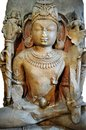 Th century stone carved statue of an indian mythical god Royalty Free Stock Photography