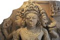 Th century stone carved statue of indian mythical gods Stock Photography