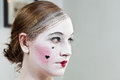18th century theatrical make-up girl Royalty Free Stock Photo