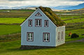 19th century turf houses at Glaumbaer farm Royalty Free Stock Photo