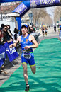 Th edition of turin s city trophy of triathlon april deambrogio italy athlete asd torino team finishes the on Stock Photos