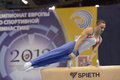 Th european championships in artistic gymnastics moscow russia april daniel keatings great britain performs exercise on pommel Stock Photo