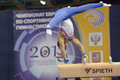 Th european championships in artistic gymnastics moscow russia april daniel keatings great britain performs exercise on pommel Royalty Free Stock Photography