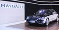 Th international belgrade car show march presents maybach at the on march in serbia Royalty Free Stock Image