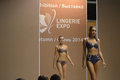 Th international exhibition of underwear beachwear home wear and hosiery desire autumn moscow Royalty Free Stock Images