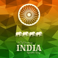 26th of January India Republic Day text on triangular background