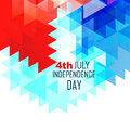 Th of july american independence day abstract vector design Stock Photo