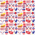 4th of July, American Independence Day seamless Royalty Free Stock Photo