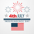 Th of july american independence day vector design Royalty Free Stock Photos