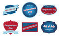 Th of july badges patriotic independence day with vintage style Royalty Free Stock Image