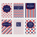 4th July banner set Royalty Free Stock Photo