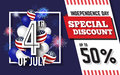 4TH of July Celebration Discount Promotion Background