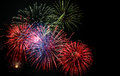Th of july fireworks display colorful Royalty Free Stock Photo