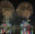 4th July fireworks in New York City Royalty Free Stock Photo