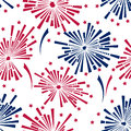 4th of july fireworks seamless pattern Royalty Free Stock Photo