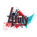 Th july independance day template background Royalty Free Stock Image