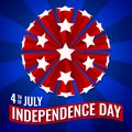 4th of July Independence Day Banner Wallpaper Vector illustration
