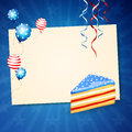 Th july independence day illustration of a of design Royalty Free Stock Photography