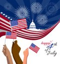 4th of July Independence Day placard, banner or greeting card