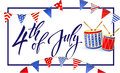 4th of July Independence day of United States of America. Poster, Banner. Royalty Free Stock Photo