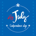 4th July lettering inscription for posters