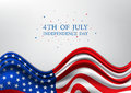 4th of July, United Stated independence day, American national day on USA flag, vector illustration