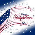 4th of July with USA flag, Independence Day Banner Vector illustration