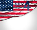 4th July USA flag on white background Royalty Free Stock Photo