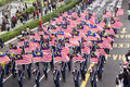 Th malaysia independence day kuala lumpur august parade carrying national flag during celebration of in merdeka square Stock Photo