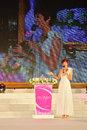 The th miss tourism selection international emcee at launch ceremeny of hold on june at guangzhou of china Stock Photos