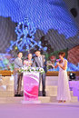 The th miss tourism selection international raising crown of winner at launch ceremeny of hold on june at guangzhou of Royalty Free Stock Photo
