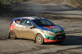 Th opar olio istanbul rally orhan avcioglu drives ford fiesta r of castrol ford team turkey in ulupelit stage on december in Stock Photo