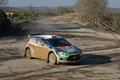 Th opar olio istanbul rally yagiz avci drives ford fiesta s of castrol ford team turkey in ulupelit stage on december in Royalty Free Stock Photos