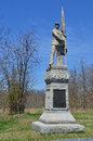 Th pennsylvania infantry monument antietam national battle field the pennsylvanis with skyline background Royalty Free Stock Images