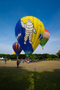 The th putrajaya international hot air balloon fiesta malaysia march tethered ride for public at in Stock Photo