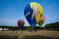 The th putrajaya international hot air balloon fiesta malaysia march tethered ride for public at in Royalty Free Stock Photos